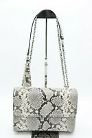 NWT Tory Burch Fleming Embossed Snake Leather Convertible Shoulder Bag New $598