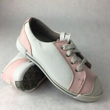 Footjoy Girl Junior FJ Golf Shoes Size 2 M Pink White  48202 New