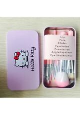 New HELLO KITTY 7 pcs Makeup Brushes Set Eyeshadow beginner gift beauty girls