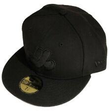 Монреаль икспос новой эры, черная на черном бейсбол, главная лига 59 Fifty регулируемая кепка 5950