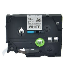 New listing Tze-S231 Extra Strenth Adhesive Black on White Label Tape For Brother Tz-S231