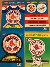 Boston Red Sox 4 Collectible Stickers, 1980's, Fleer