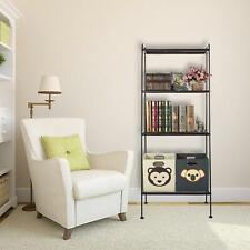 4 Tier Corner Shelf Bookcase Bookshelf Storage Shelves Unit Rack Organizer Frame
