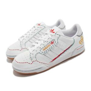 adidas Originals Continental 80 Stripes White Red Yellow Men Casual Shoes GZ3044