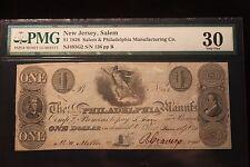 1828 $1 Salem & Philadelphia Mfg. Co. PMG 30 Very Fine (New Jersey, Salem) RARE