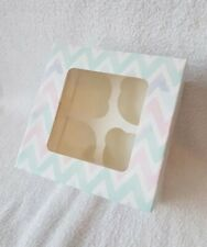 Cupcake Boxes, zig zag pattern Each box holds 4 cakes