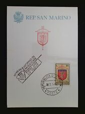 SAN MARINO MK 1974 ARMBRUST-TURNIER WAPPEN MAXIMUMKARTE MAXIMUM CARD MC CM c8487