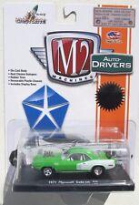 M2 MACHINES AUTO-DRIVERS R30 1971 PLYMOUTH CUDA 440 WHITE STRIPES 1/5,000
