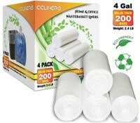 CCLINERS 4 Gallon Clear Small Garbage Trash Bags, 200 Count