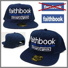 ***FAITHBOOK*** JESUS FACEBOOK PARODY FOR FUN Snapback Snap Back Cap Hat