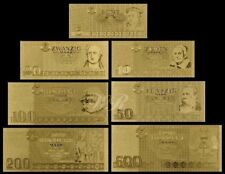 DDR MARK BANKNOTE SET - GOLD - KOMPLETT - GOLDMÜNZE - TOP