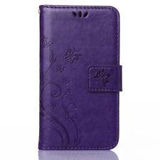 Handy Flip Leder Cover SchutzHülle Wallet Case Silikon Bumper Karte Tasche Etui