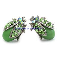 Green Ladybug Stud Post Earring Insect Charm Fashion Jewelry Gift Girl Women Mom