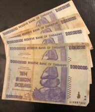 ZIMBABWE 10 Billion Dollars x 1 Banknote, 2008 *Poor Condition*