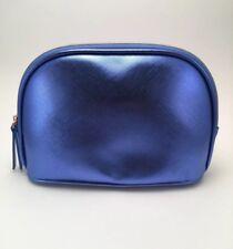 La Mer Brand Metallic Blue Cosmetic Bag Makeup Bag Case - New