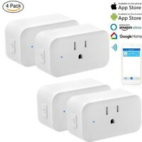 4 Pack WiFi Smart Plug Socket Outlet For Amazon Alexa IFTTT Google Assistant