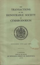 CYMMRODORION TRANSACTIONS (1974 & 1975)GOLDEN GROVE-JOHN GWILI JENKINS-MABINOGI