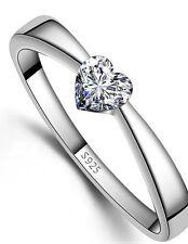 Heart Engagement Stone Costume Rings