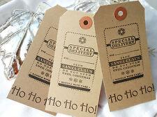 10  Buff From Santa Ho Ho Ho Christmas Gift Tags Handmade  Secret Santa