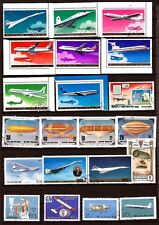 SPR 169 KOREA Aircraft line and balloons airship 21 stamps obliterated