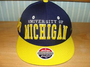 Zephyr University of Michigan Snapback Cap Hat NCAA OS
