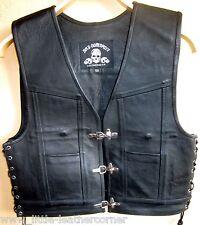 "Gilet in Pelle /""Steve/"" CHA CHA Bad Company Leatherwear Nabuk Pelle Gilet Rocker tonaca"