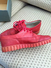 Red Hot !!  THE Trendy Color !! Vintage Bugle Boy Shoes!! Men's 10