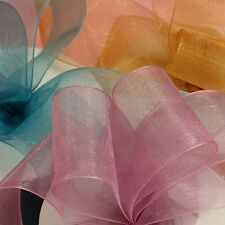 Organza Sheer Ribbon 4 Sizes in 18 Colors - 25 Yards