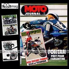 MOTO JOURNAL N°549 SUZUKI XN 85 650 TURBO MARC FONTAN MONTESA COTA 80 SWM 500