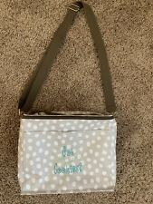 Thirty One 31 Beige w/ White Dots Thermal Tote Lunch Bag