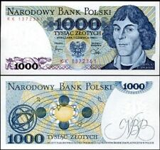 POLAND 1000  ZLOTYCH 1982 P 146  UNC