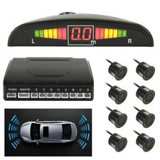 CISBO PARKING REVERSING FRONT AND REAR 8 SENSORS BUZZER LED DISPLAY SYSTEM