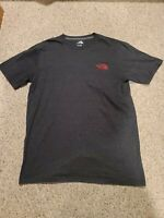 North Face Men's Gray Half Dome Logo (Red Logo) T-shirt Size Large