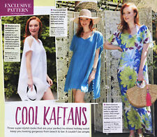 Beginners BEACH KAFTAN COVER-UP Holiday Prima Sewing Pattern 10 12 14 16 18 20