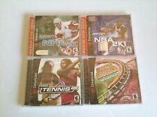 4 NEW Sealed Dreamcast Games Tennis 2K, NBA 2K1, NHL 2K, and Coaster Works