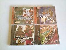 4 NEW Sealed Dreamcast Games Tennis 2K, NBA 2K1, NHL 2K, and Coaster Works