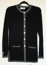 St. Paul Smith 100% cashmere black/gray cardigan size S-M made in Scotland