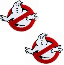 """3.5"""" 2 pcs GHOSTBUSTERS Movie Logo BUSTERS IRON-ON Embroidered Applique Patch"""