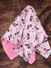 Minnie Mouse Baby Disney Blanket Minky Cotton 27 x27 Blanket