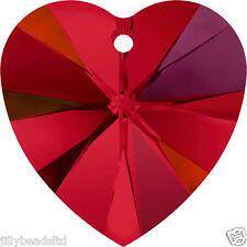 Swarovski 6228 Xilion Heart Pendant Siam AB Pack of 4