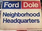 Vintage Gerald FORD DOLE 1976 PRESIDENTIAL campaign poster political CARDBOARD