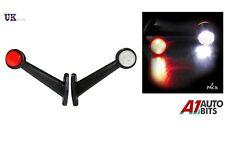 2 X 8 Led Side Outline Stalk Marker Lights Lamps Trailer Truck 19cm 12v