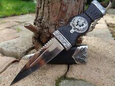 CN210549 Couteau Scottish Dirk Sheffield Sgian Dubh Acier Inox Manche Abs Etui