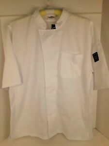 Winco Chef Shirt Men's Large White Ventilated New with Tags / Free Ship US