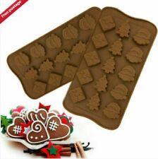 15 Christmas Santa Tree Silicone Chocolate mold Mould Baking Present gift box UK