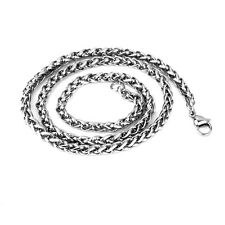 3MM Boys MENS Chain Stainless Steel Silver Curb Link Pendant Necklace 22''