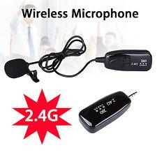 2.4G Lavalier Speech Wireless Voice Amplifier Recording Microphone Portable Mini