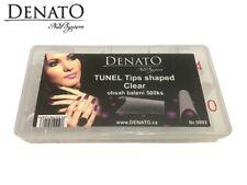 Tunel Tips Shaped Clear 500pcs UV LED Gel Nail Art High Quality Flexible Denato