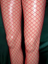 BRIGHT RED MEDIUM / MID NET TIGHTS - FLIRT - HOT! ONE SIZE - NEW AND SEALED