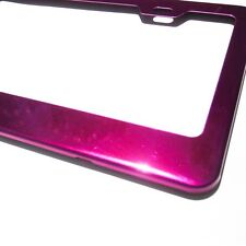 Hot Pink Chrome Powder Coated License Plate Frame Light Weight Stainless Steel